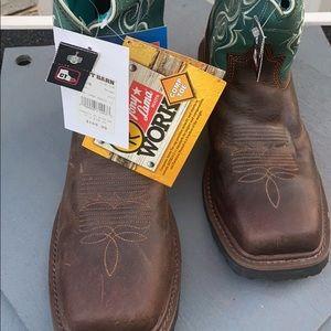 BNWT Tony Lama Women's Safety Toe Work Boots